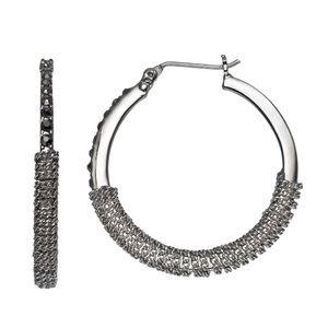 Vera Wang Mesh Bottom Hoop Earrings